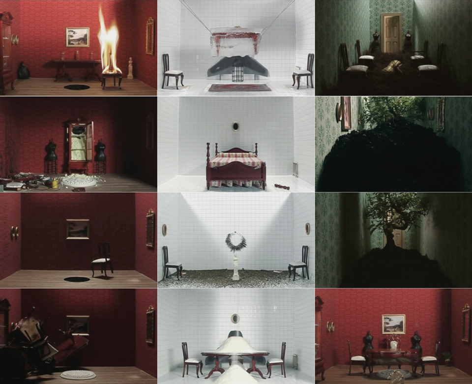 various frames from the different rooms